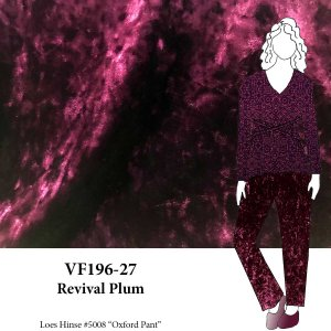 VF196-27 Revival Plum - Magenta Crushed Stretch Velvet Fabric