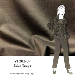 VF201-09 Edda Taupe - Dark Ponte di Roma Double Knit Fabric