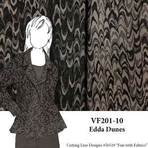 VF201-10 Edda Dunes - Reversible Stretch Cotton Suiting Fabric