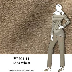 VF201-11 Edda Wheat - Tan Novelty Tropical Wool Crepe Fabric