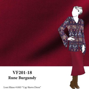 VF201-18 Rune Burgundy - Rayon-Polyester Blend Stretch Gabardine Suiting Fabric