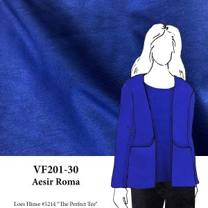 VF201-30 Aesir Roma - Dark Royal Blue Ponte di Roma Double Knit Fabric