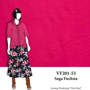 VF201-53 Saga Fuchsia - Firm Hot Pink Ponte di Roma Double Knit Fabric