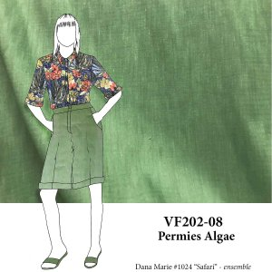 VF202-08 Permies Algae - Medium Weight Rayon-Linen Blend Fabric