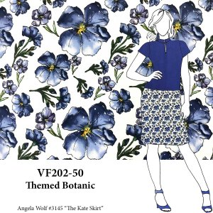 VF202-50 Themed Botanic - Royal Bloom Sateen Stretch-Woven Cotton Print Fabric from Telio