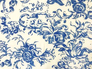 VF203-25 Mayagüez Breeze - Blue and White Semi-Sheer Cotton-Silk Blend Fabric from Caroline Constas