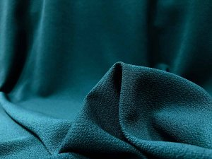 Bubble Crepe Georgette Fabric - Teal