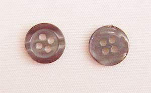 Clothing Buttons - Style C02- 8 per bag- Grey Pearl 13mm