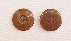 Clothing Buttons - Style C06- 8 per bag- Brown 15mm