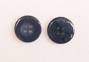 Clothing Buttons - Style C07- 8 per bag- Lt. Navy 15mm