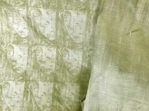 Silk Shantung Faces - Muted Sage