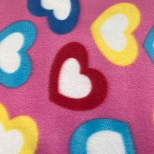 Polar Fleece Print - Hearts