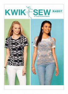 Kwik Sew Pattern #4207 - Misses' Pullover Tops with Cold-Shoulder and Pocket Options