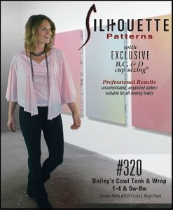 Silhouette Patterns #320 - Bailey's Cowl Neck Tank & Wrap