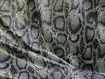 designer clearance grey snakeskin knit print fabric - Halloween Lace Fabric